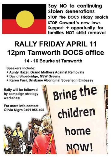 Rally: Say no the continuing Stolen Generations